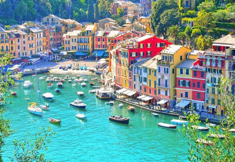 Risultati immagini per portofino and camogli tourist